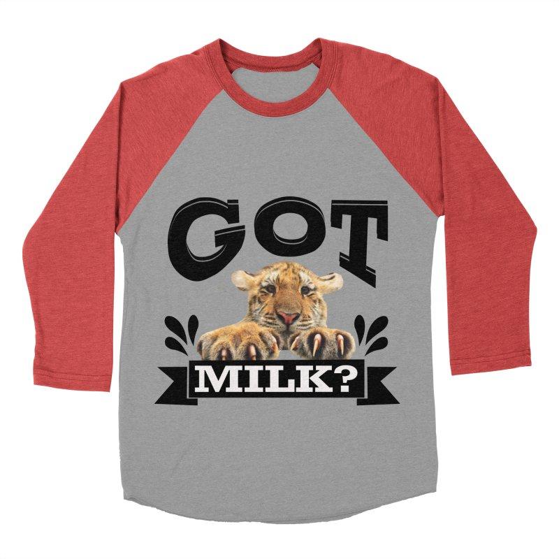Got more Milk Men's Baseball Triblend T-Shirt by Mini Moo Moo Clothing Company