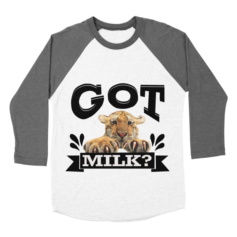 Got more Milk Men's Baseball Triblend T-Shirt by Mini Moo Moo Clothing Company