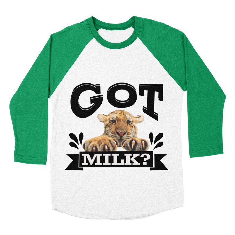 Got more Milk Men's Baseball Triblend Longsleeve T-Shirt by Mini Moo Moo Clothing Company