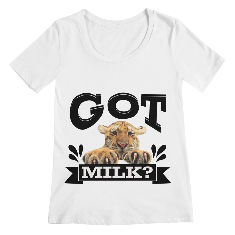 Got more Milk Women's Regular Scoop Neck by Mini Moo Moo Clothing Company