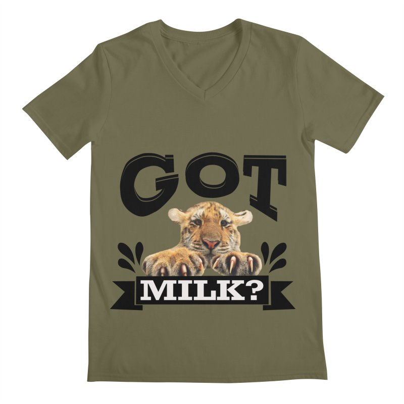 Got more Milk Men's V-Neck by Mini Moo Moo Clothing Company