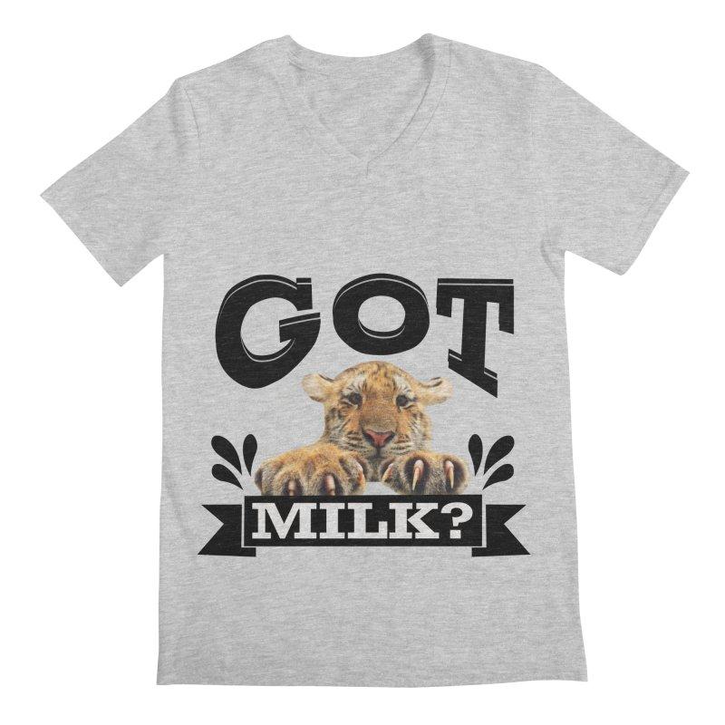 Got more Milk Men's Regular V-Neck by Mini Moo Moo Clothing Company