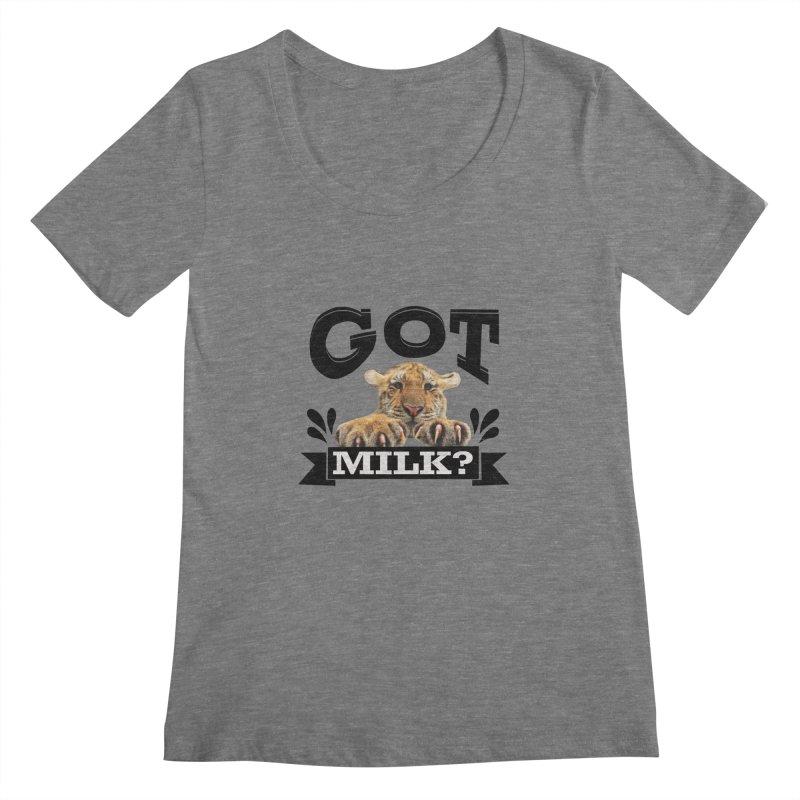 Got more Milk Women's Scoopneck by Mini Moo Moo Clothing Company