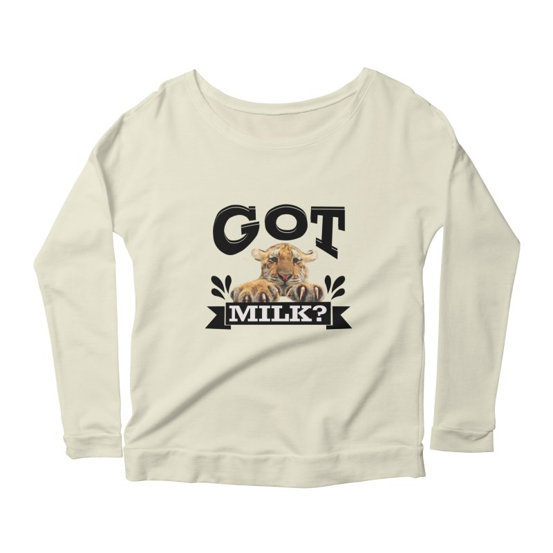 Got more Milk Women's Scoop Neck Longsleeve T-Shirt by Mini Moo Moo Clothing Company