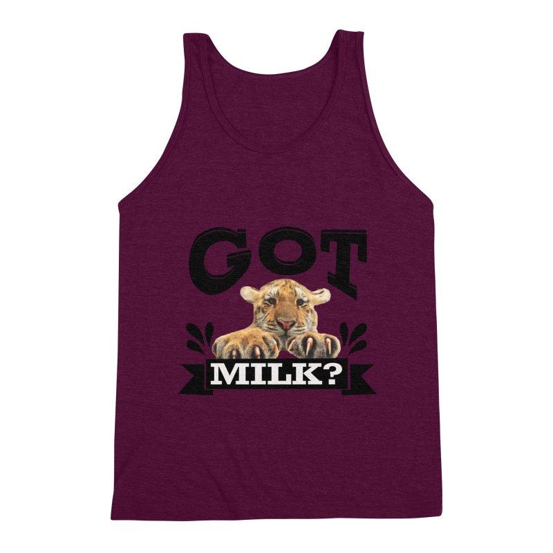 Got more Milk Men's Triblend Tank by Mini Moo Moo Clothing Company