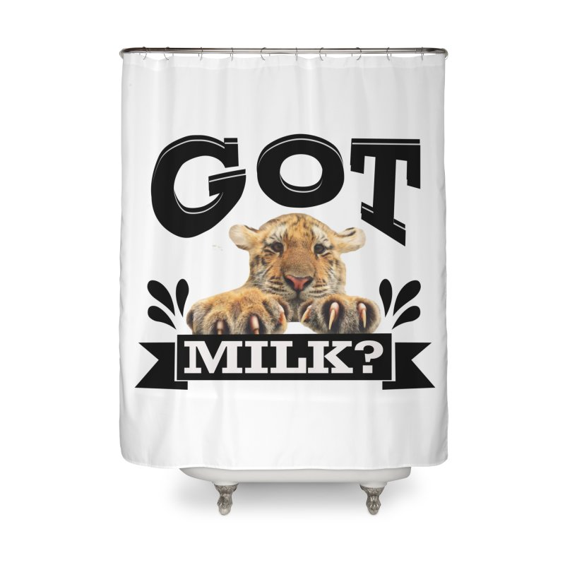 Got more Milk Home Shower Curtain by Mini Moo Moo Clothing Company