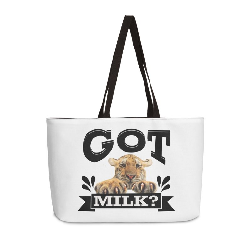 Got more Milk Accessories Weekender Bag Bag by Mini Moo Moo Clothing Company