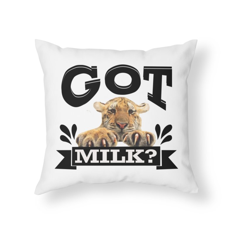 Got more Milk Home Throw Pillow by Mini Moo Moo Clothing Company