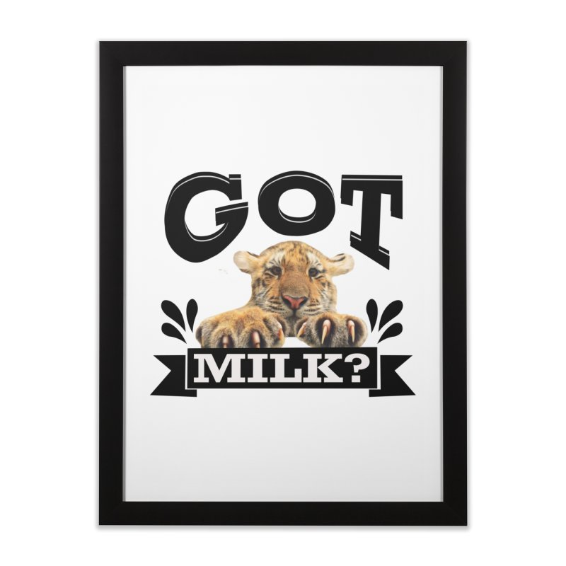 Got more Milk Home Framed Fine Art Print by Mini Moo Moo Clothing Company