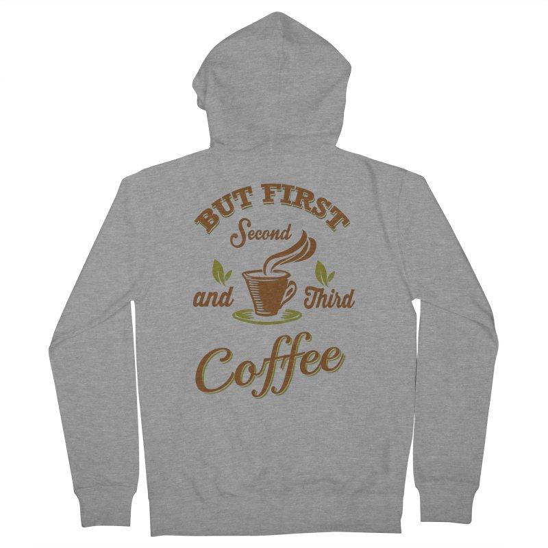 But always coffee Women's Zip-Up Hoody by Mini Moo Moo Clothing Company