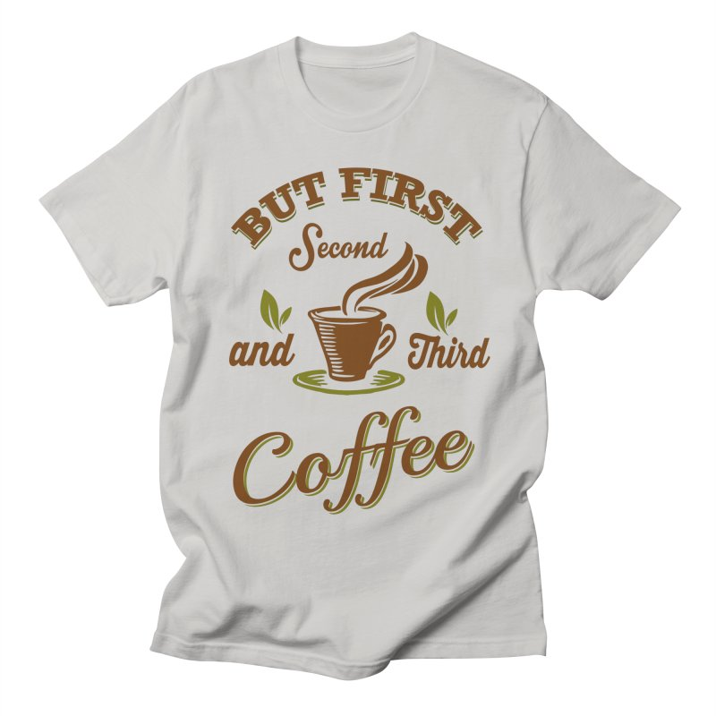 But always coffee Men's T-Shirt by Mini Moo Moo Clothing Company