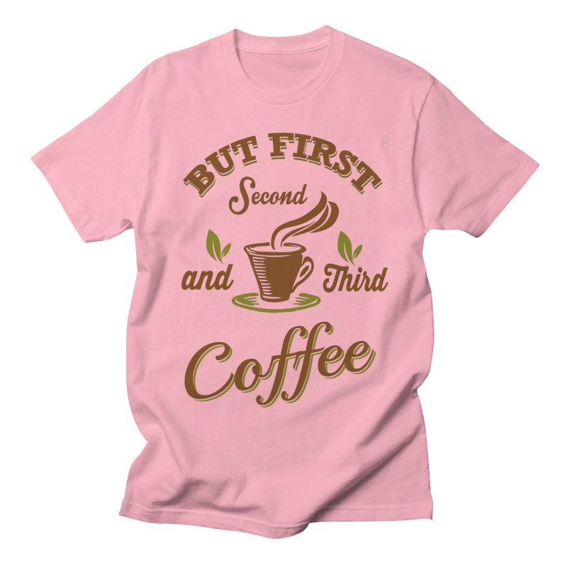 But always coffee Men's Regular T-Shirt by Mini Moo Moo Clothing Company