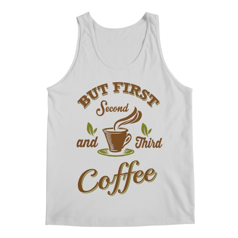 But always coffee Men's Regular Tank by Mini Moo Moo Clothing Company