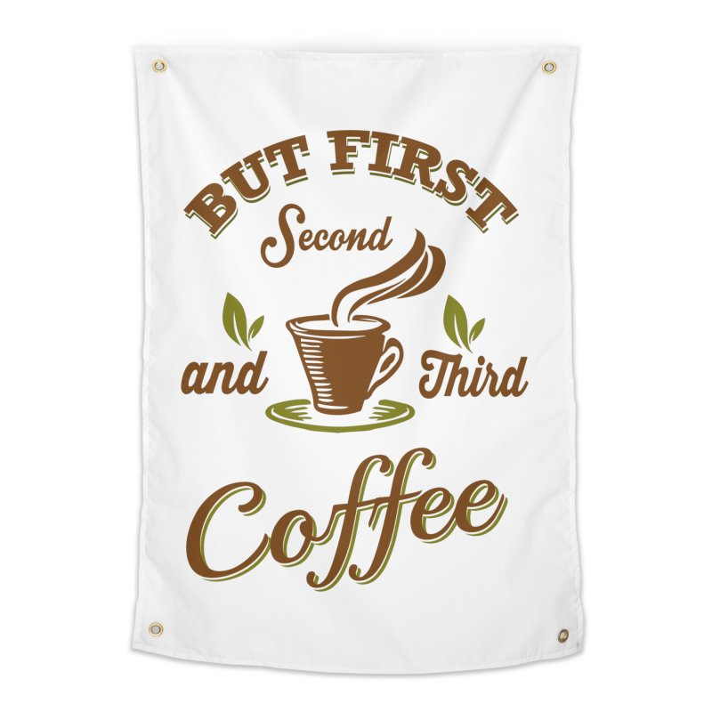 But always coffee Home Tapestry by Mini Moo Moo Clothing Company