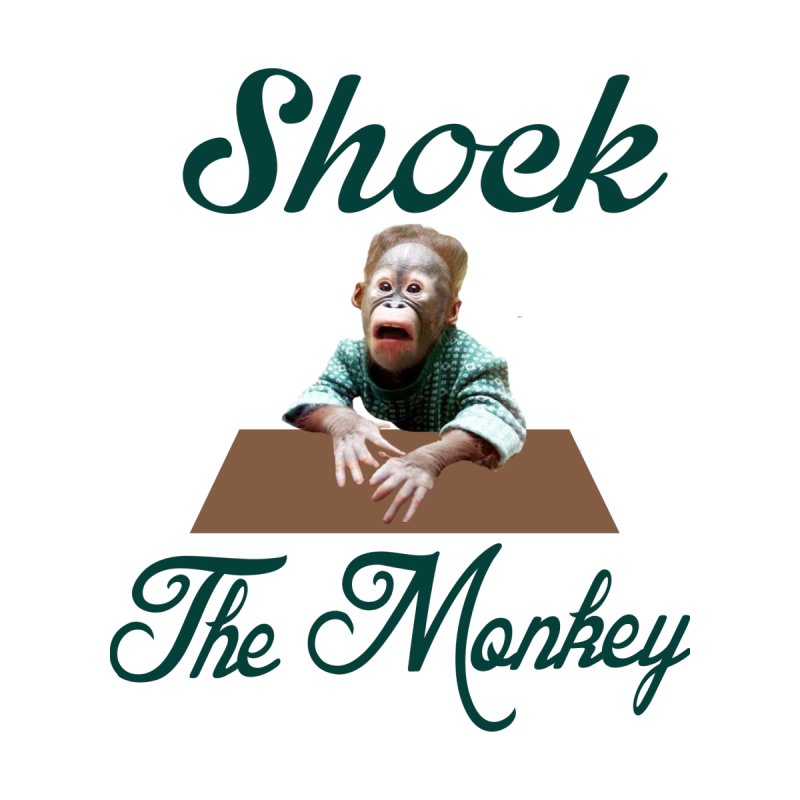 Shocking the  Monkey Men's T-Shirt by Mini Moo Moo Clothing Company