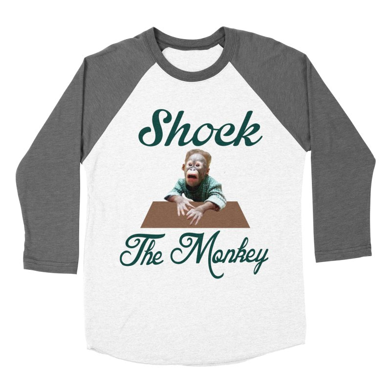 Shocking the  Monkey Women's Longsleeve T-Shirt by Mini Moo Moo Clothing Company