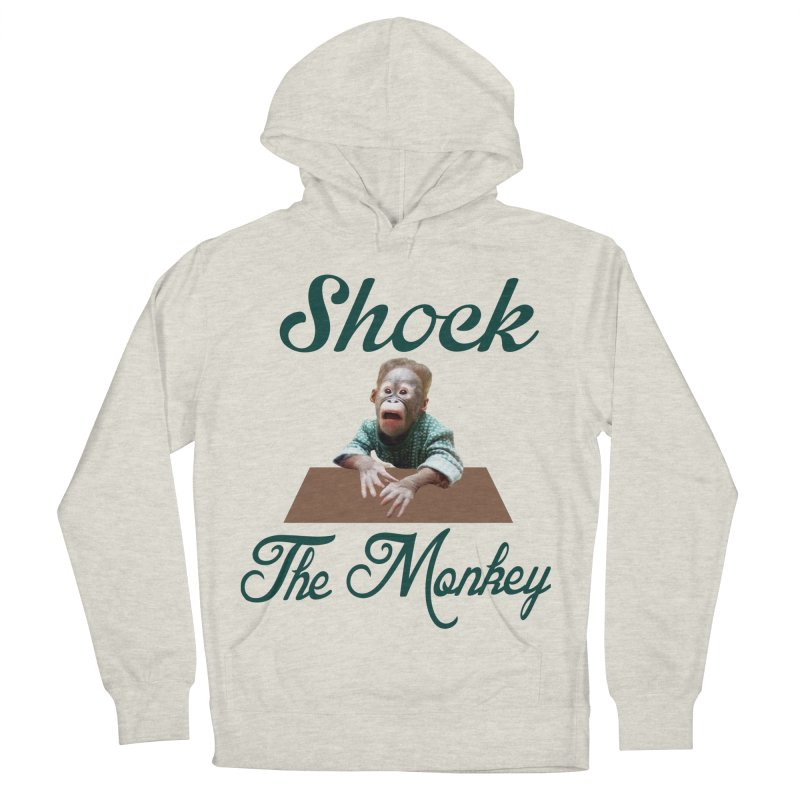 Shocking the  Monkey Women's French Terry Pullover Hoody by Mini Moo Moo Clothing Company