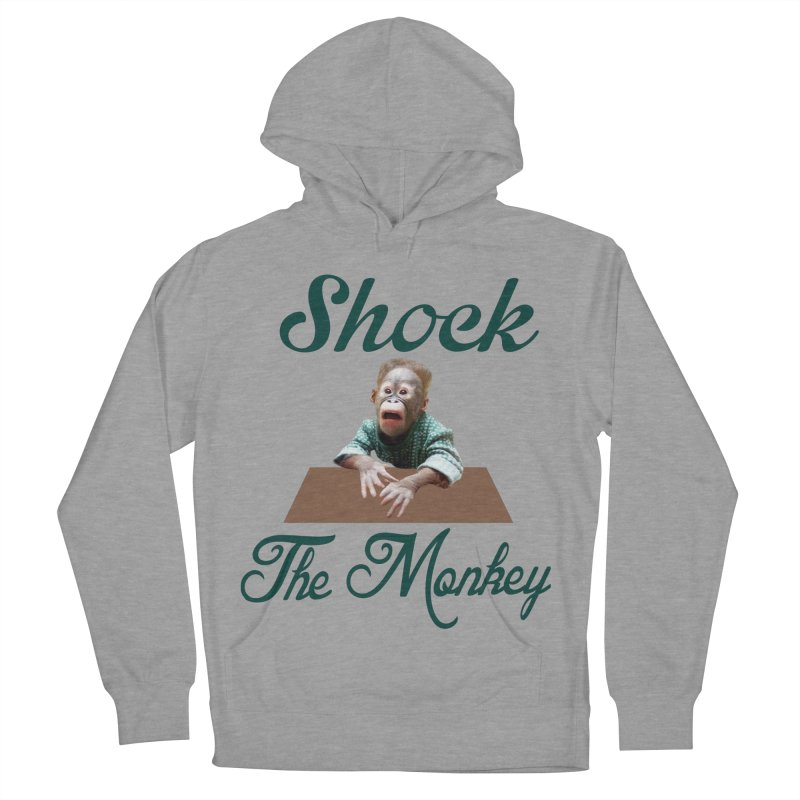 Shocking the  Monkey Men's French Terry Pullover Hoody by Mini Moo Moo Clothing Company