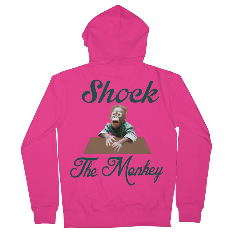 Shocking the  Monkey Men's French Terry Zip-Up Hoody by Mini Moo Moo Clothing Company