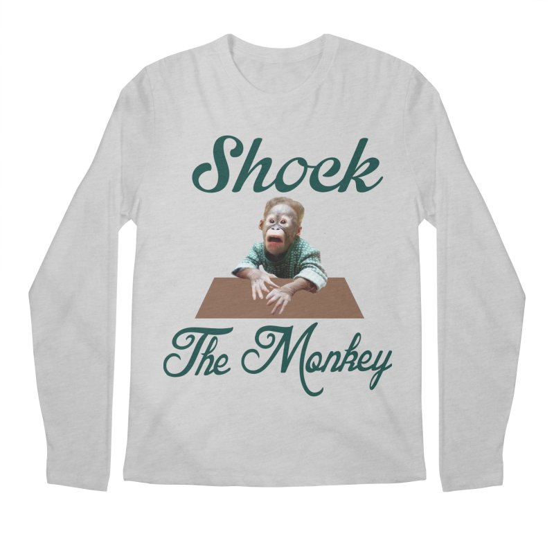 Shocking the  Monkey Men's Regular Longsleeve T-Shirt by Mini Moo Moo Clothing Company