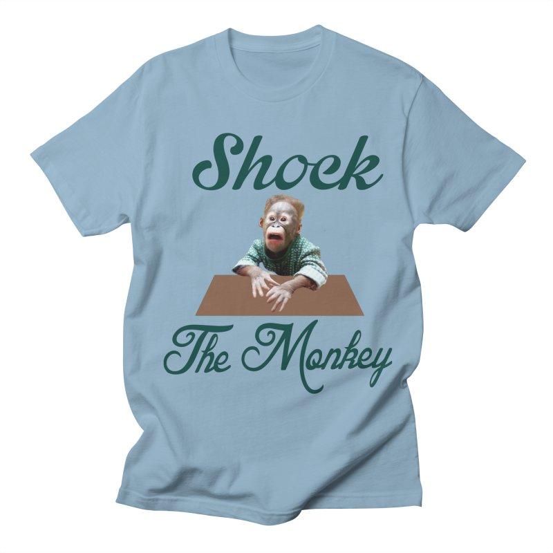 Shocking the  Monkey Women's Regular Unisex T-Shirt by Mini Moo Moo Clothing Company