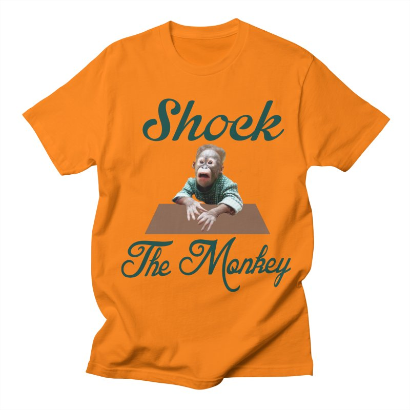 Shocking the  Monkey Men's T-Shirt by Mini Moo Moo Clothing Company