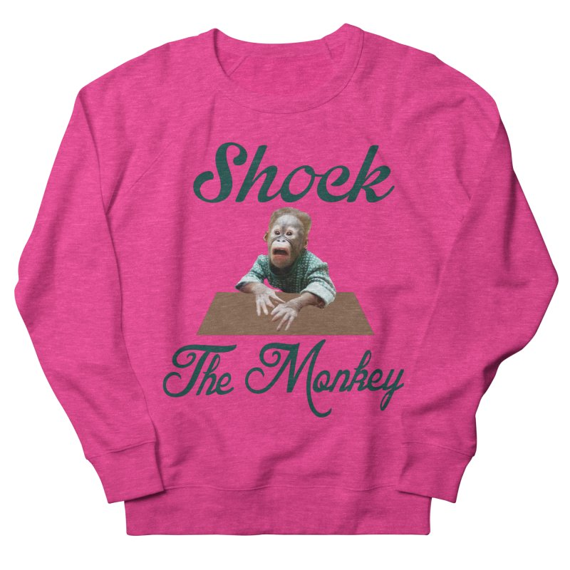 Shocking the  Monkey Women's French Terry Sweatshirt by Mini Moo Moo Clothing Company