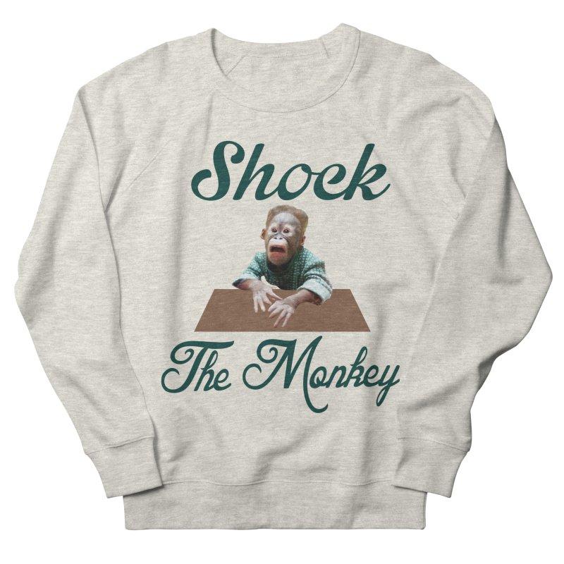 Shocking the  Monkey Men's Sweatshirt by Mini Moo Moo Clothing Company