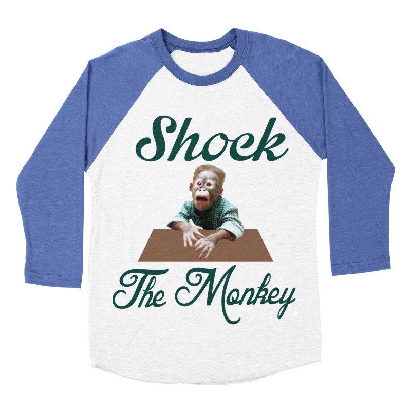 Shocking the  Monkey Men's Baseball Triblend Longsleeve T-Shirt by Mini Moo Moo Clothing Company