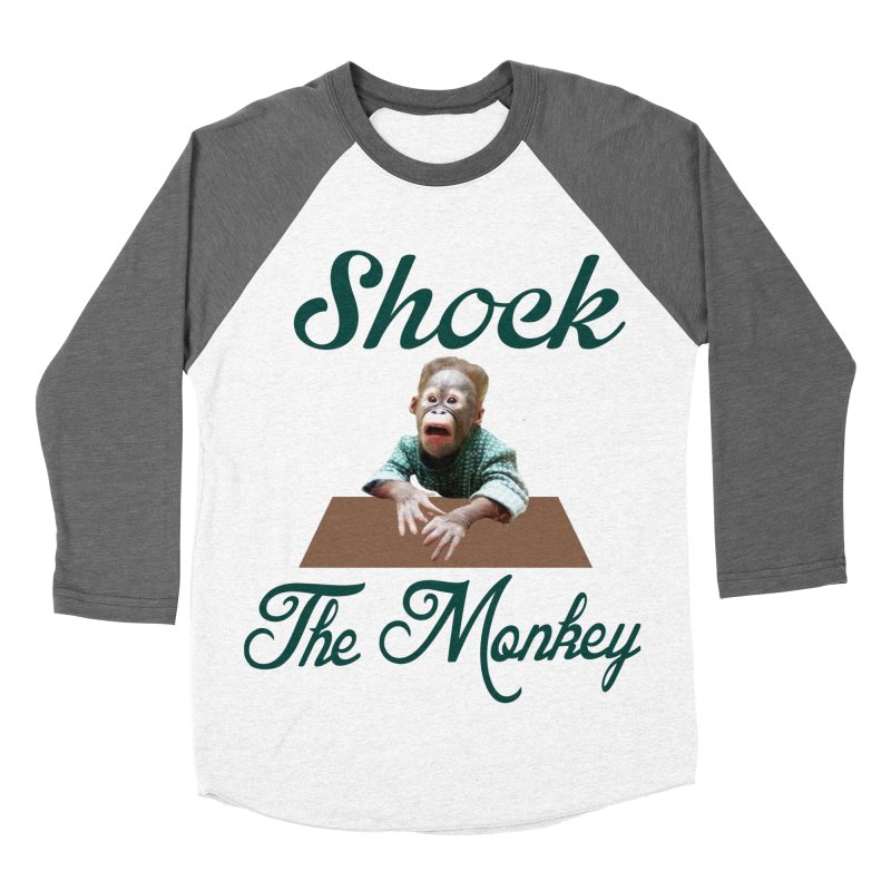 Shocking the  Monkey Men's Baseball Triblend T-Shirt by Mini Moo Moo Clothing Company