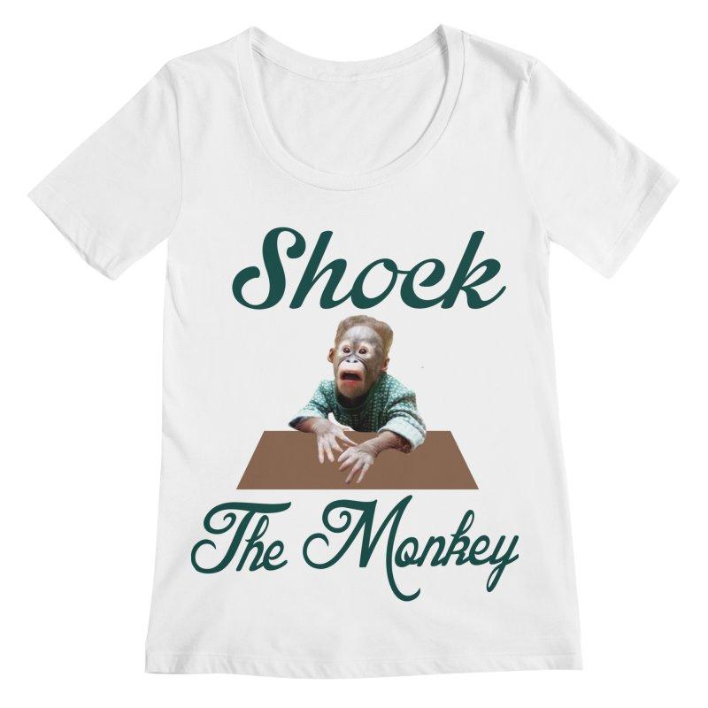 Shocking the  Monkey Women's Regular Scoop Neck by Mini Moo Moo Clothing Company