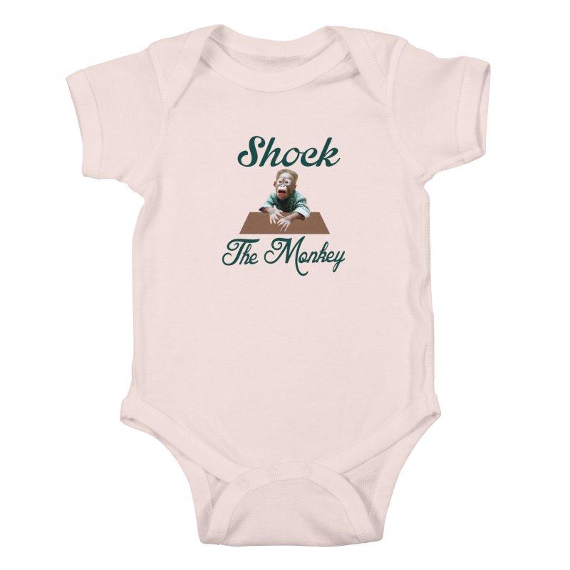 Shocking the  Monkey Kids Baby Bodysuit by Mini Moo Moo Clothing Company