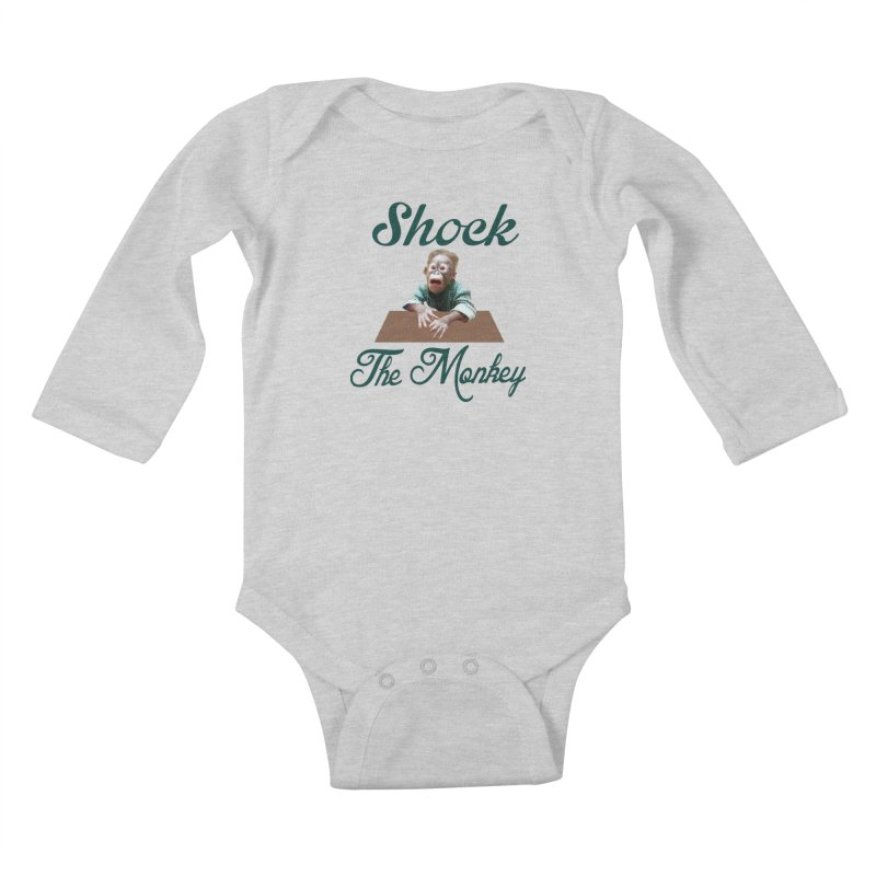 Shocking the  Monkey Kids Baby Longsleeve Bodysuit by Mini Moo Moo Clothing Company