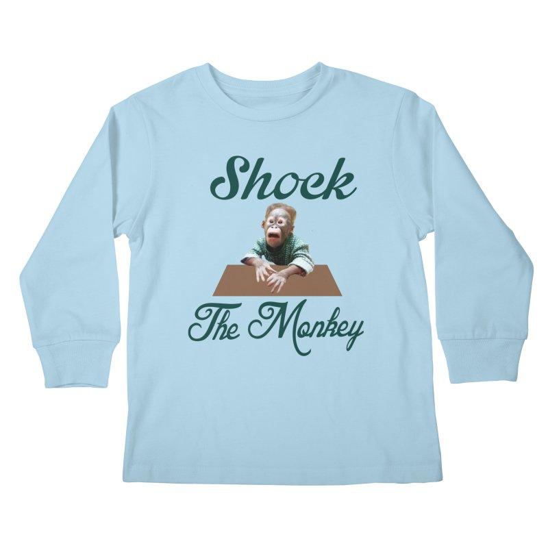 Shocking the  Monkey Kids Longsleeve T-Shirt by Mini Moo Moo Clothing Company