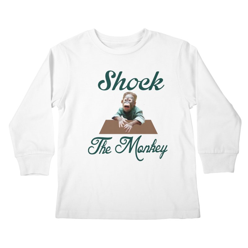 Shocking the  Monkey Kids Longsleeve T-Shirt by Mini Moo Moo Clothing Company