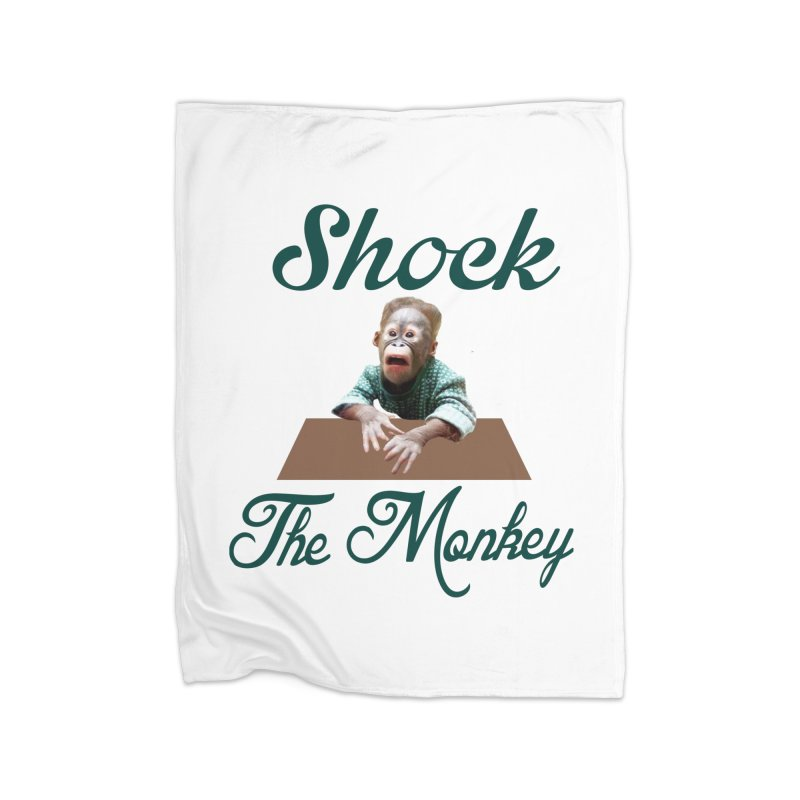 Shocking the  Monkey Home Fleece Blanket Blanket by Mini Moo Moo Clothing Company