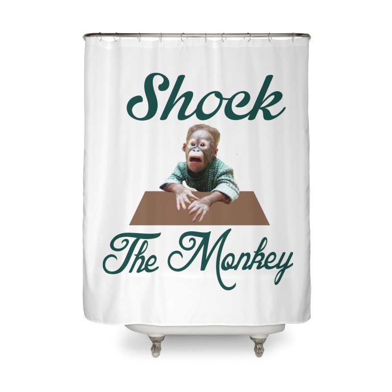 Shocking the  Monkey Home Shower Curtain by Mini Moo Moo Clothing Company