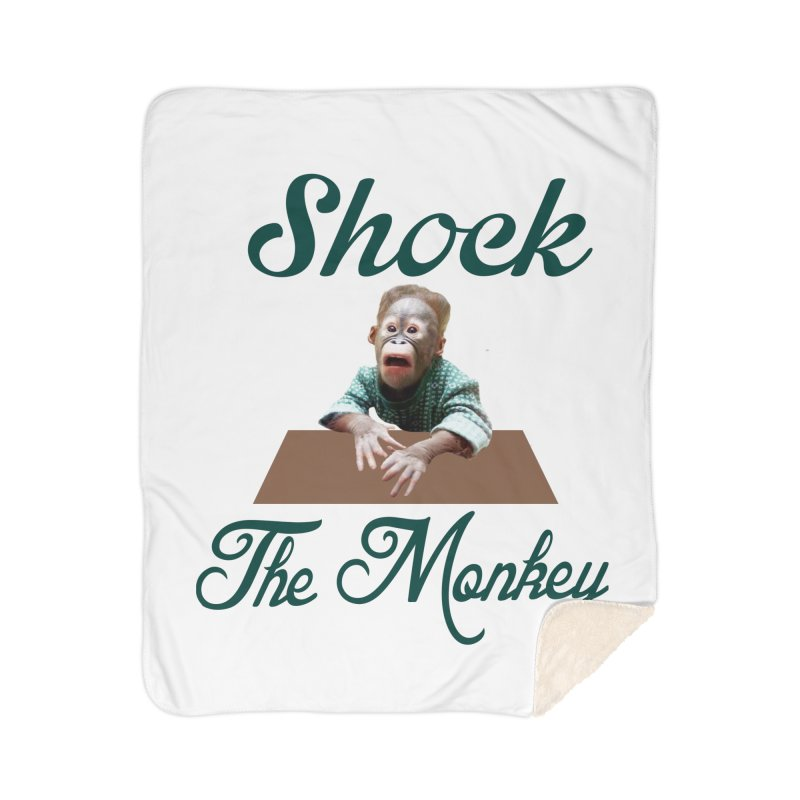 Shocking the  Monkey Home Sherpa Blanket Blanket by Mini Moo Moo Clothing Company