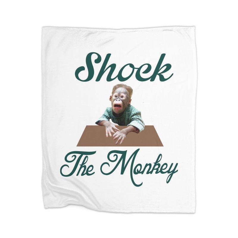 Shocking the  Monkey Home Blanket by Mini Moo Moo Clothing Company