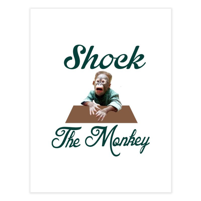 Shocking the  Monkey Home Fine Art Print by Mini Moo Moo Clothing Company