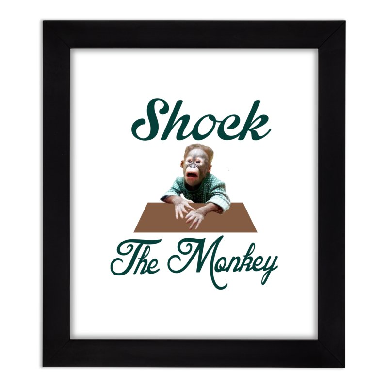 Shocking the  Monkey Home Framed Fine Art Print by Mini Moo Moo Clothing Company