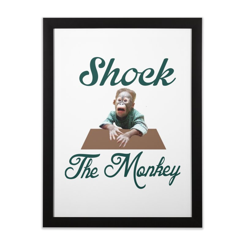 Shocking the  Monkey Home Framed Fine Art Print by Mini Moo Moo Clothing Company