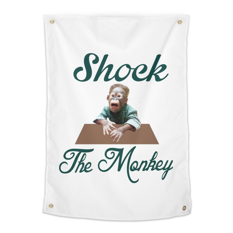 Shocking the  Monkey Home Tapestry by Mini Moo Moo Clothing Company