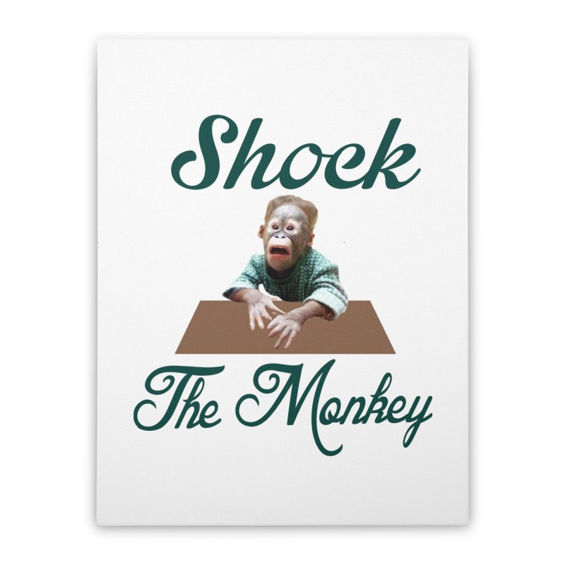 Shocking the  Monkey Home Stretched Canvas by Mini Moo Moo Clothing Company