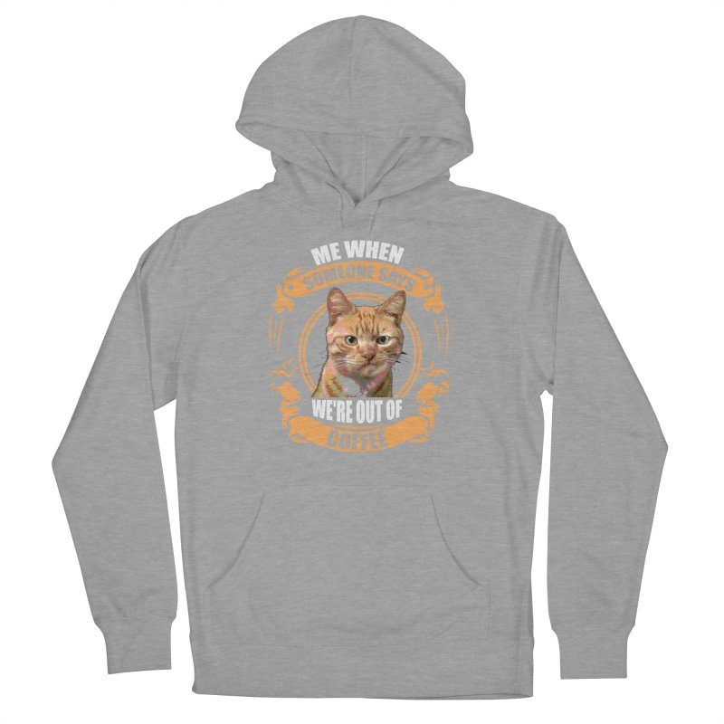 What no coffee Men's French Terry Pullover Hoody by Mini Moo Moo Clothing Company