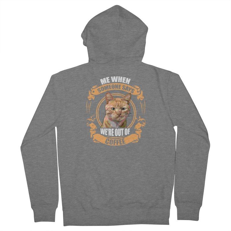 What no coffee Women's Zip-Up Hoody by Mini Moo Moo Clothing Company