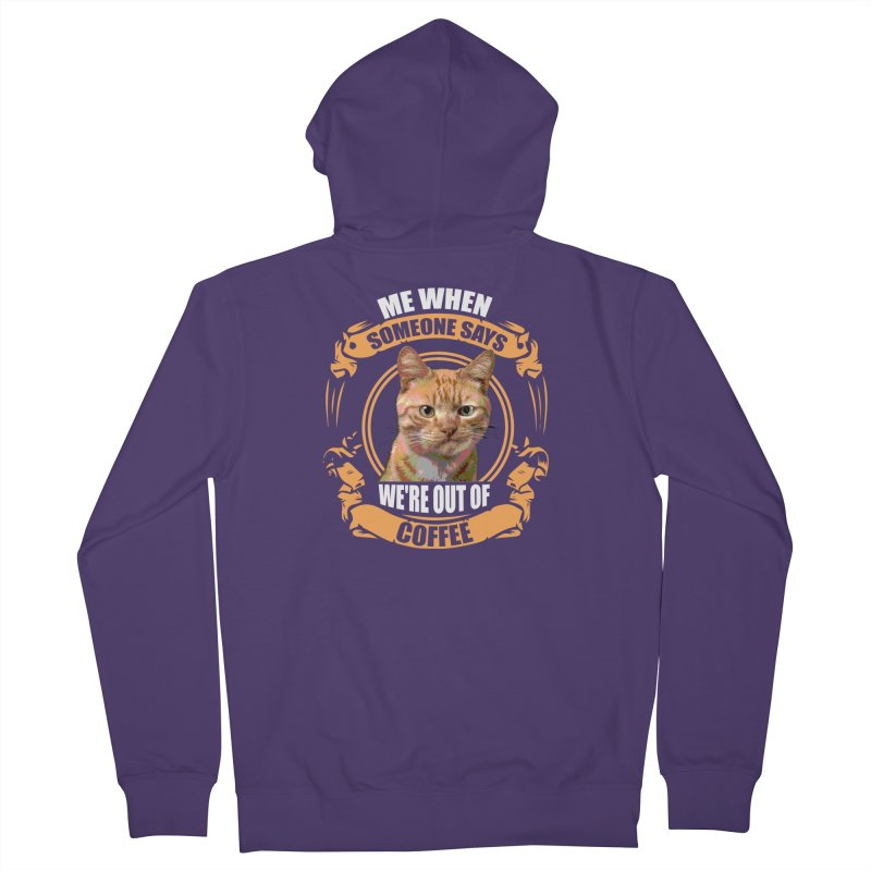 What no coffee Women's Zip-Up Hoody by Mini Moo Moo Clothing Company