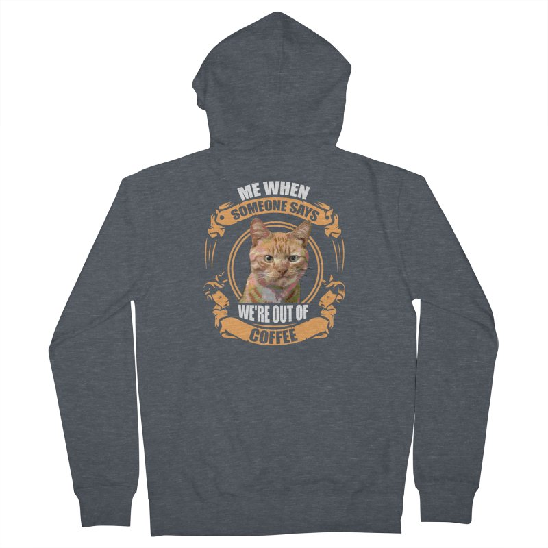 What no coffee Men's Zip-Up Hoody by Mini Moo Moo Clothing Company