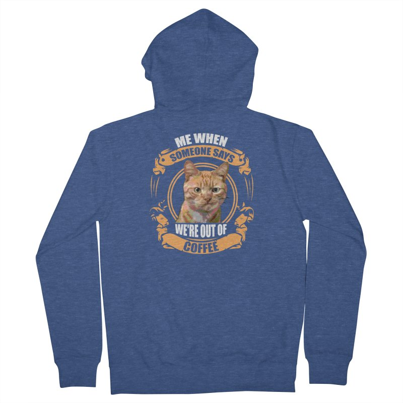 What no coffee Men's Zip-Up Hoody by Mini Moo Moo Clothing Company