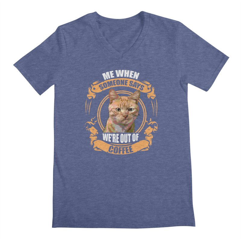 What no coffee Men's V-Neck by Mini Moo Moo Clothing Company